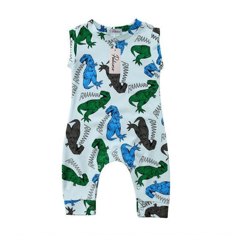 Baby Blue Dino Jumpsuit