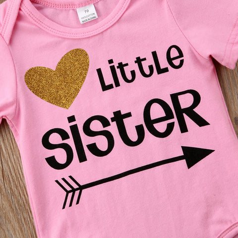 Baby Sister Pink Onesie-www.my-baby-world.com