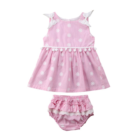 Baby Floral & Stripes 2pcs Set-www.my-baby-world.com