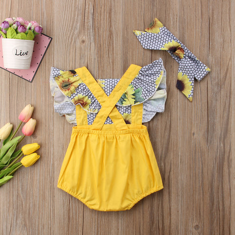 Baby Sunflowers Bodysuit-www.my-baby-world.com