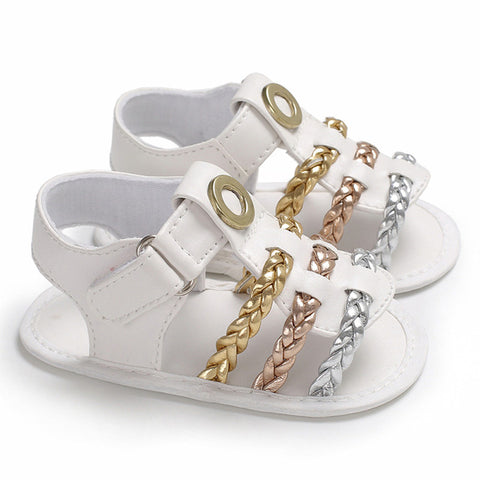 Baby Gold & Silver Sandals-www.my-baby-world.com