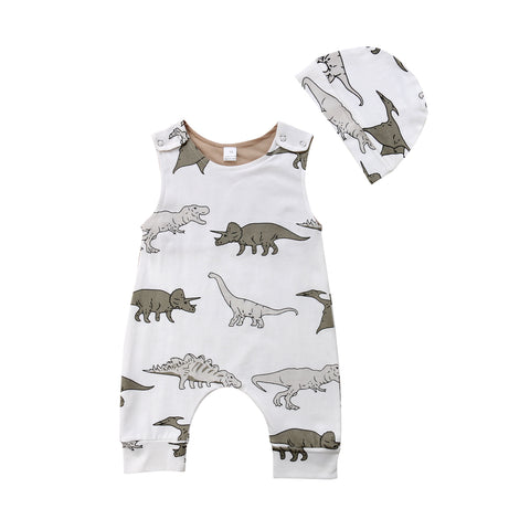 Baby Dino Jumpsuit Set