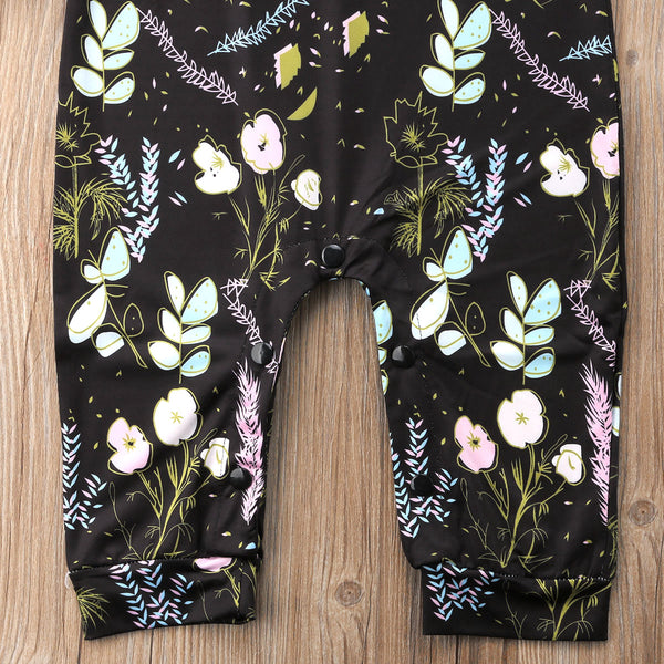 Baby Black Floral Sleeveless Jumpsuit-www.my-baby-world.com