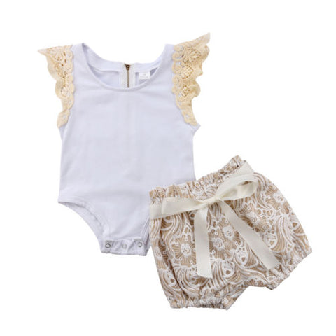 Baby Cute Lace 2pcs Set