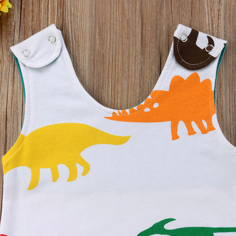 Baby Colorful Dino Romper-www.my-baby-world.com