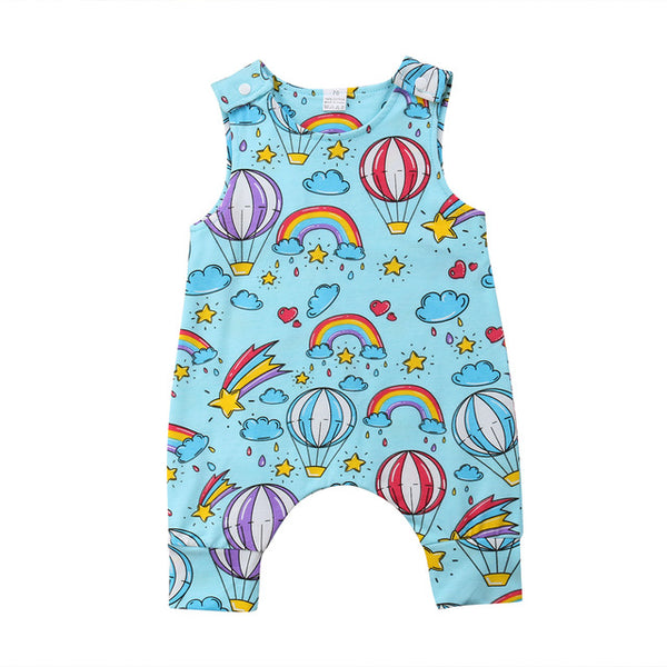 Baby Air Balloon & Rainbow Jumpsuit-www.my-baby-world.com