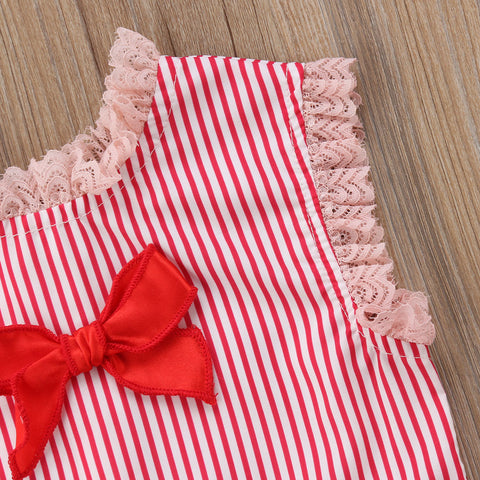 Baby Red Stripes 2pcs Set-www.my-baby-world.com