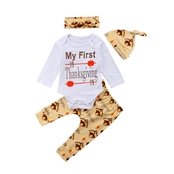 Baby 1st Thanksgiving 4pcs Set-www.my-baby-world.com