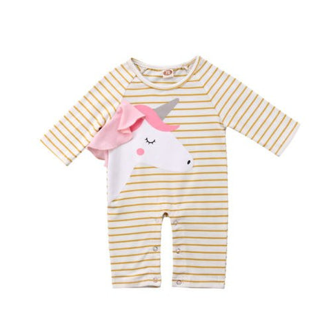 Baby Unicorn & Stripes Jumpsuit