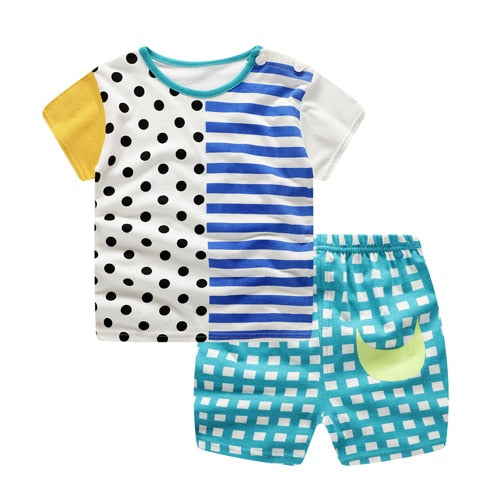 Baby /Toddler Boy Summer Casual Mondrian Set
