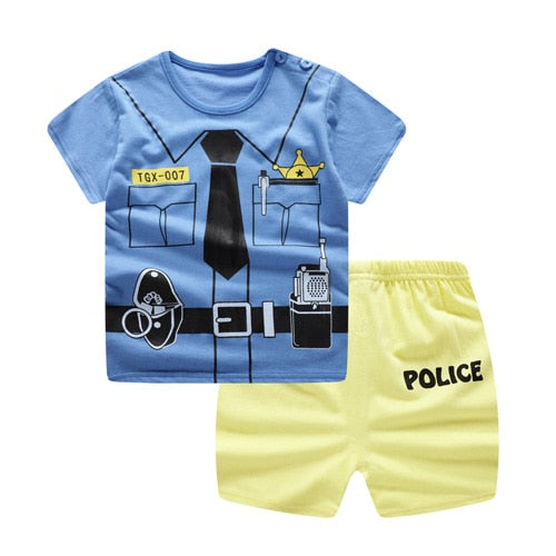 Baby /Toddler Boy Summer Casual Police Set