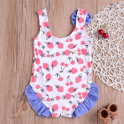 Baby/Toddler Strawberry And Cherry Overall Swimsuit [1-4 years]-www.my-baby-world.com