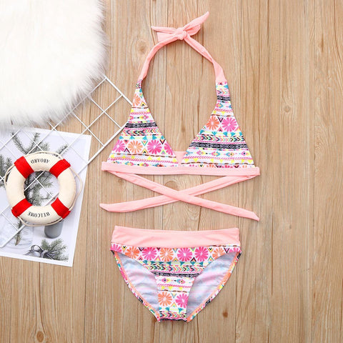 Kids Pink Flower Bikini Set [6-16y]-www.my-baby-world.com