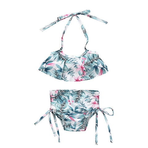 Blue Flower 2PCS Bikinis Set [ 1-5years]