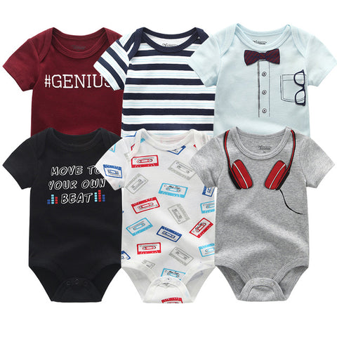 Newborn baby Boy Mix Set Jumpsuit 0-12M 6PCS/Pack