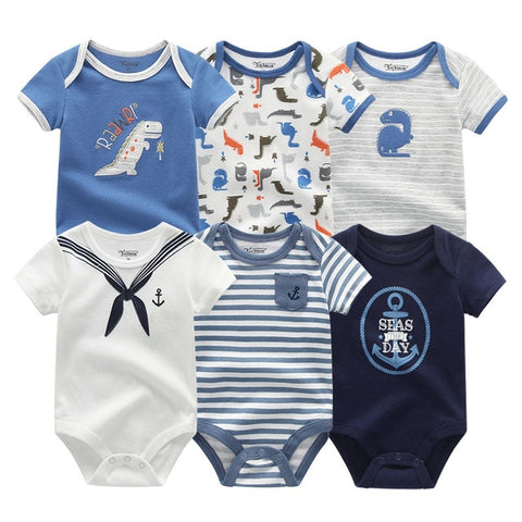 Newborn baby Boy Stripe Sailor Jumpsuit 0-12M 6PCS/Pack