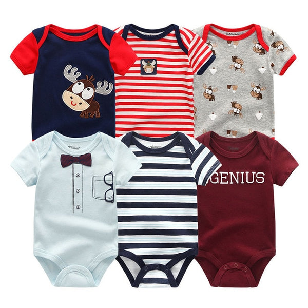 Newborn baby Boy Deer Stripe Jumpsuit 0-12M  6PCS/Pack
