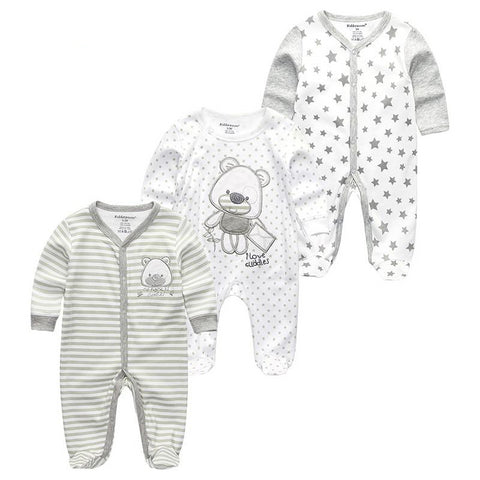 Newborn Baby Animal Jumpsuit 3PCS/Pack