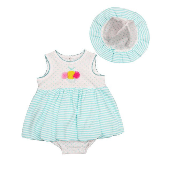 Baby Girl Pink Dot Rompers Set