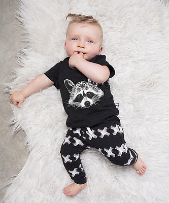 Baby Boy Raccoon 2 pcs Set