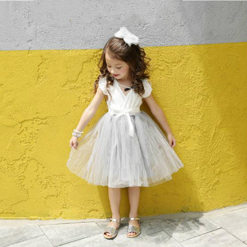 Girl Gray Tutu Dress-www.my-baby-world.com