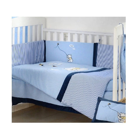 Disney Blue Winnie the Pooh Kite Crib Bedding Collection Crib Bedding Set