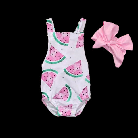 Baby Watermelon Bodysuit 2pcs Set-www.my-baby-world.com