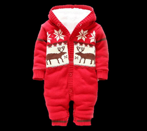 Baby Thick Knitted Romper-www.my-baby-world.com