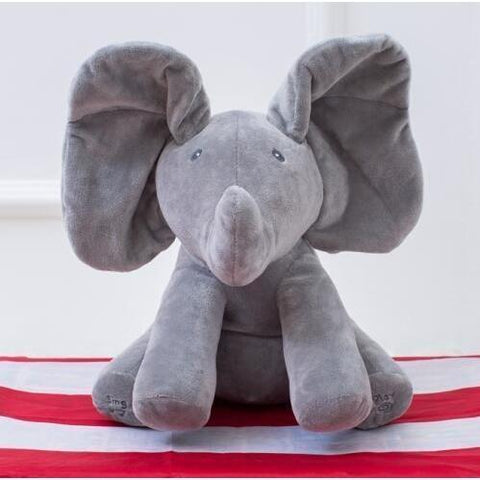 UPDATED DESIGN-Peek-A-Boo Elephant Plush Doll