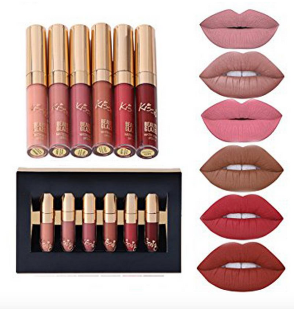 6Pcs/Lot Matte Lipsticks