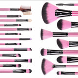 Pink Makeup Brush Set - 22 Pieces (Limited Edition) - Kirei Cosmetics - 2