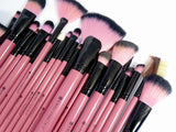 Pink Makeup Brush Set - 22 Pieces (Limited Edition) - Kirei Cosmetics - 3