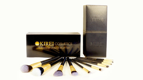 Professional Makeup Brushes - 10 Piece Set - Kirei Cosmetics - 3