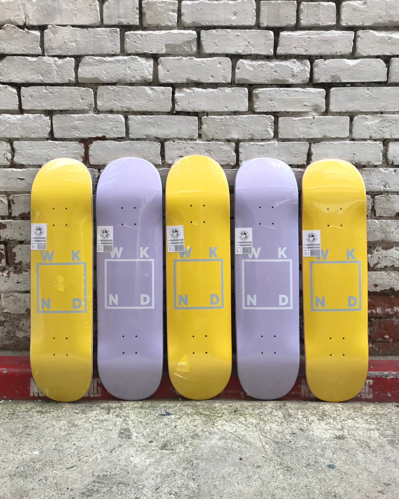 WKND Skateboards just in