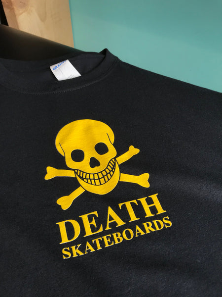 Death Skull Tee Black and Yellow