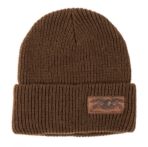 Stock Eagle Label Cuff Beanie (Brown/Brown)