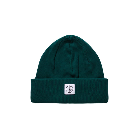 Double Fold Cotton Beanie (Dark Green)