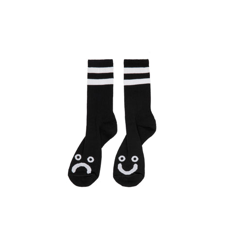 Happy / Sad Socks (Black/White)