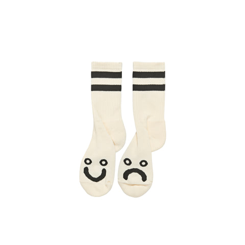 Happy / Sad Socks (Ivory/Black)