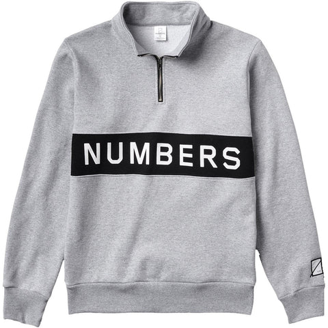 Wordmark Fleece Quarter Zip (Athletic Heather)