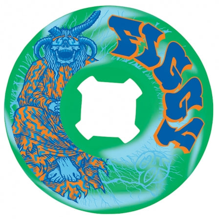 Elite Figgy Lightning Wheels (Blue/Green Swirl)