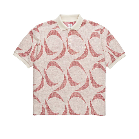 Pattern Polo (Ivory/Red)