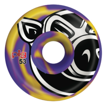 Pig Head Swirls C-Line (Purple/Yellow) Wheels