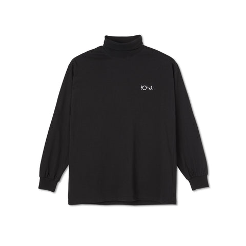 Script Turtle Long Sleeve Tee (Black)