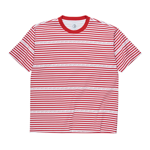 Stripe Logo Tee (Red)