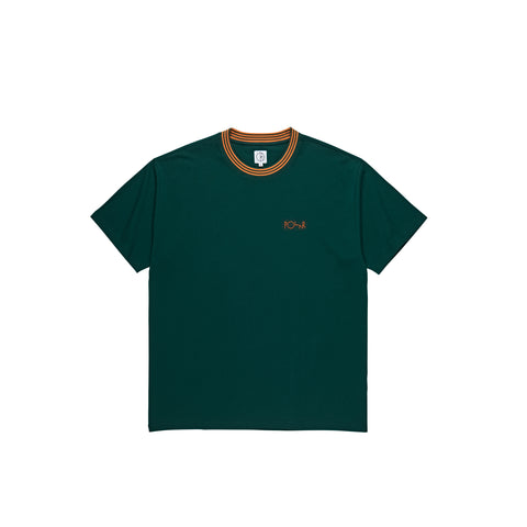 Striped Rib Tee (Dark Green)