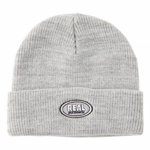 Oval Cuff Beanie (Heather Grey)