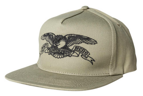 Basic Eagle Snapback Cap (Khaki/Black)