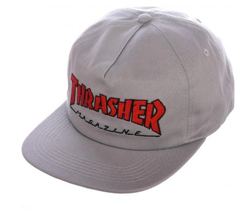 Outline Cap (Grey/Red)