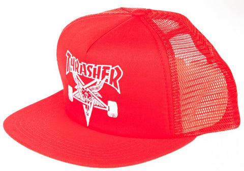 Skate Goat Embroidered Mesh Cap (Red)